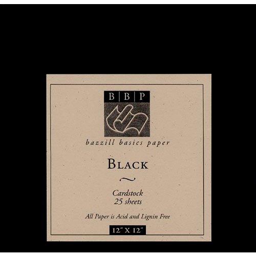 Bazzill Basics - 12x12 Black Cardstock Pack