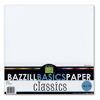 Bazzill Basics - 12x12 White Cardstock Pack