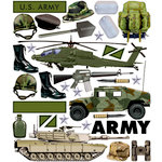 Creative Imaginations Stickers - Army Equipment, CLEARANCE