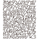 Sonnets Embossed Alphabet Stickers - Sonnets Script