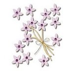 Jolee's Boutique - Violet Jeweled Flowers