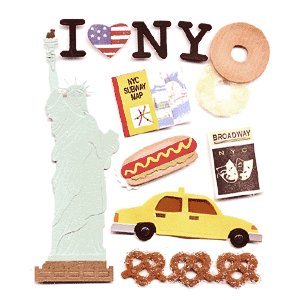 Jolee's Boutique Destinations Stickers - New York