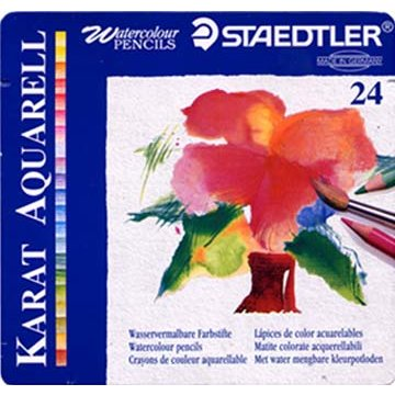 24 Watercolor Pencil Set