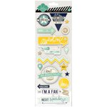 Heidi Swapp - Hello Today Collection - Memory Planner - Chipboard Stickers - Awesome