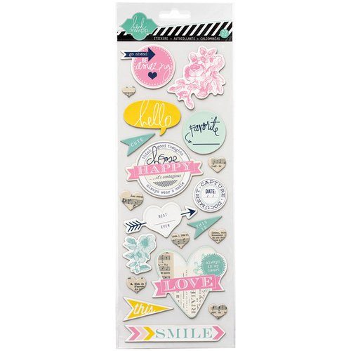 Heidi Swapp - Hello Today Collection - Memory Planner - Chipboard Stickers - Happy