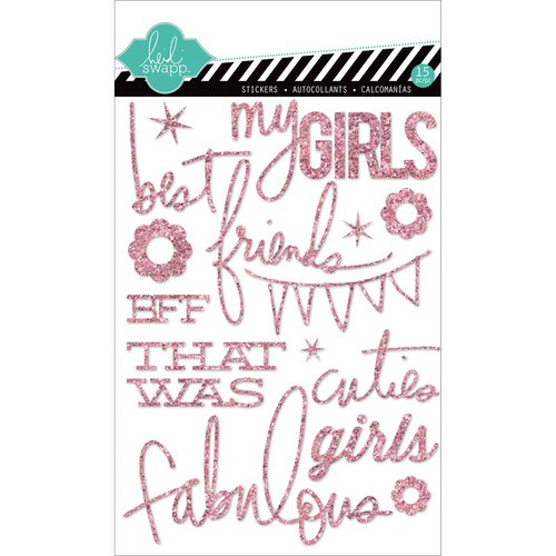 Heidi Swapp - Hello Today Collection - Memory Planner - Glitter Stickers - Pink