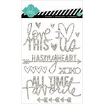 Heidi Swapp - Hello Today Collection - Memory Planner - Glitter Stickers - Silver