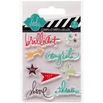 Heidi Swapp - Hello Today Collection - Memory Planner - Clear Acrylic Stamps - Mini - Brilliant