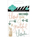 Heidi Swapp - Hello Today Collection - Memory Planner - Clear Acrylic Stamps - Mini - Thank You