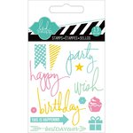 Heidi Swapp - Hello Today Collection - Memory Planner - Clear Acrylic Stamps - Mini - Party