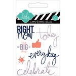 Heidi Swapp - Hello Today Collection - Memory Planner - Clear Acrylic Stamps - Mini - Right Now