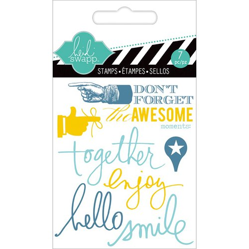 Heidi Swapp - Hello Today Collection - Memory Planner - Clear Acrylic Stamps - Mini - Together