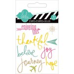 Heidi Swapp - Hello Today Collection - Memory Planner - Clear Acrylic Stamps - Mini - Journey