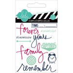 Heidi Swapp - Hello Today Collection - Memory Planner - Clear Acrylic Stamps - Mini - Remember