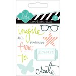 Heidi Swapp - Hello Today Collection - Memory Planner - Clear Acrylic Stamps - Mini - Inspire