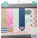 Heidi Swapp - Hello Today Collection - Memory Planner - 12 x 12 Paper Pad - Glitter