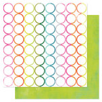 Heidi Swapp - Favorite Things Collection - 12 x 12 Double Sided Paper - Rainbow Rounds