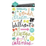 Heidi Swapp - Favorite Things Collection - Epoxy Stickers - Words