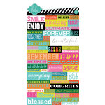 Heidi Swapp - Favorite Things Collection - Cardstock Stickers - Word Jumble