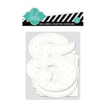 Heidi Swapp - Color Magic Collection - Embossed Jumbo Numbers