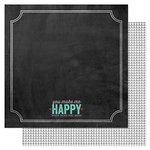 Pink Paislee - Hello Sunshine Collection - 12 x 12 Double Sided Paper - Happy Days