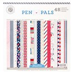Pink Paislee - Pen Pals Collection - 12 x 12 Paper Pad