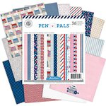 American Crafts - Pink Paislee - Pen Pals Collection - 6 x 6 Paper Pad