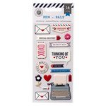 Pink Paislee - Pen Pals Collection - Puffy Stickers