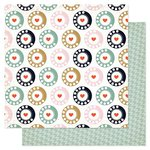 Pink Paislee - Switchboard Collection - 12 x 12 Double Sided Paper - Rotary Phone