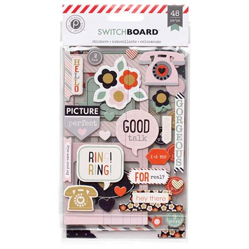 Pink Paislee - Switchboard Collection - Chipboard Stickers