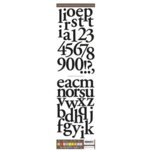 American Crafts - Letter Stickers - Monograms - Mumbo Jumbos - Black