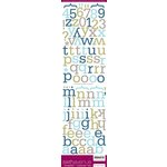 American Crafts - Sixth Avenue - Alphabet Stickers - Roosevelt - Color Set Two