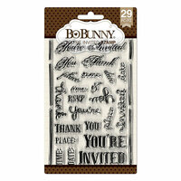 BoBunny - Clear Acrylic Stamps - You're Invited
