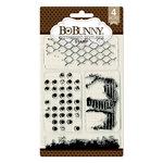 BoBunny - Clear Acrylic Stamps - Distressed Textures