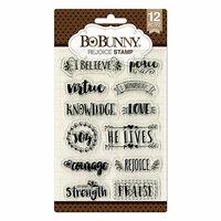 BoBunny - Clear Acrylic Stamps - Rejoice