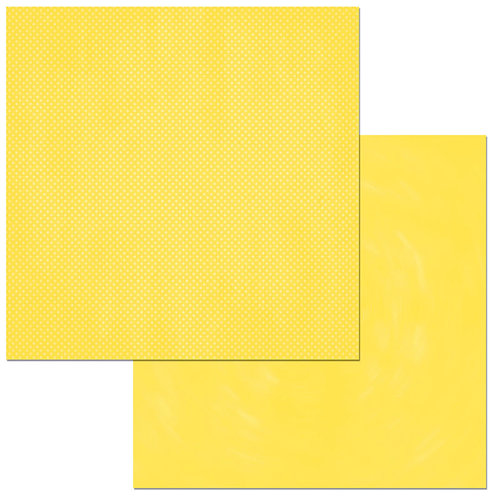 BoBunny - Double Dot Designs Collection - 12 x 12 Double Sided Paper - Lemonade Dot