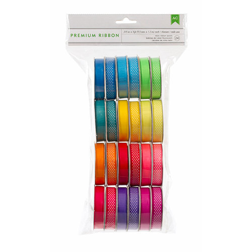 American Crafts - Ribbon Value Pack - Neon Ribbon - 24 Spools