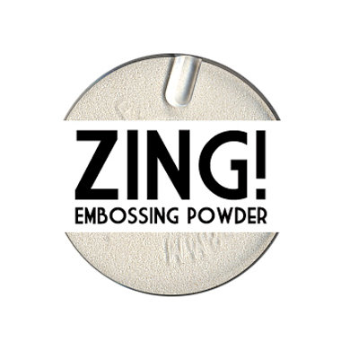 American Crafts - Zing! Collection - Opaque Embossing Powder - White