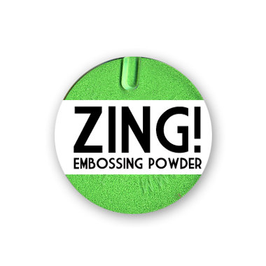 American Crafts - Zing! Collection - Fluorescent Embossing Powder - Neon Green, CLEARANCE