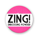 American Crafts - Zing! Collection - Fluorescent Embossing Powder - Neon Pink, CLEARANCE