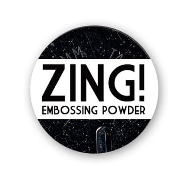 American Crafts - Zing! Collection - Glitter Embossing Powder - Black, CLEARANCE