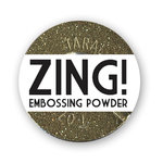 American Crafts - Zing! Collection - Glitter Embossing Powder - Gold, CLEARANCE
