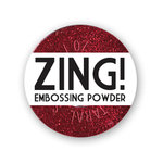 American Crafts - Zing! Collection - Glitter Embossing Powder - Red, CLEARANCE