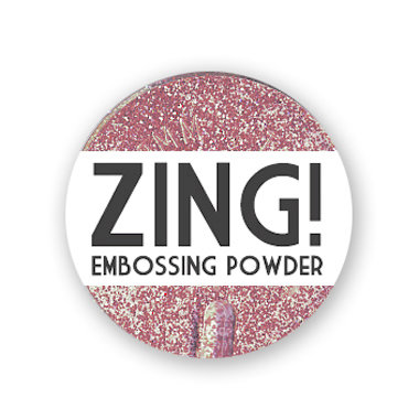 American Crafts - Zing! Collection - Glitter Embossing Powder - Pink, CLEARANCE