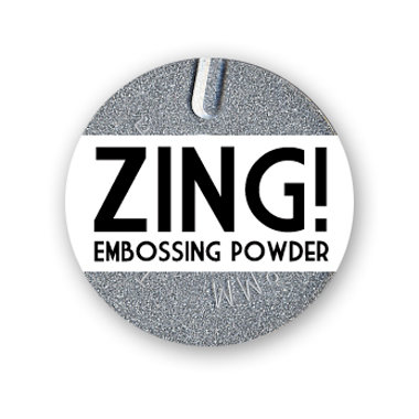 American Crafts - Zing! Collection - Metallic Embossing Powder - Silver, CLEARANCE