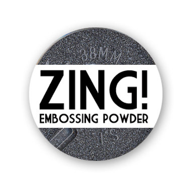 American Crafts - Zing! Collection - Metallic Embossing Powder - Pewter