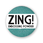 American Crafts - Zing! Collection - Metallic Embossing Powder -Teal