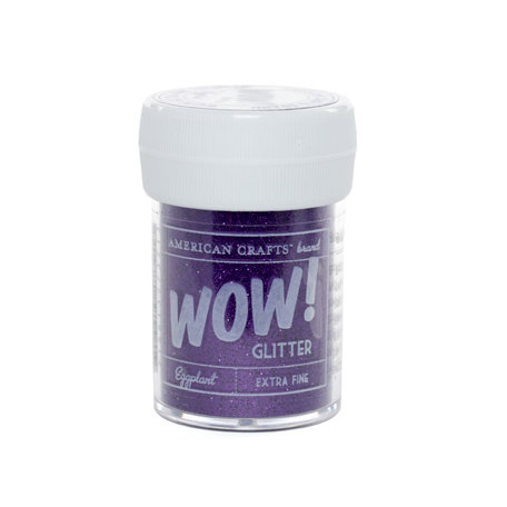 American Crafts - Wow! - Glitter - Extra Fine - Eggplant