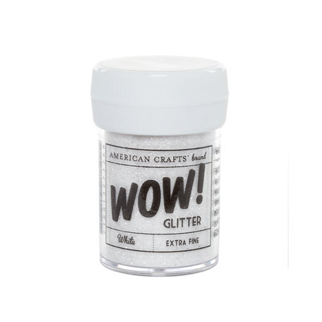 American Crafts - Wow! - Glitter - Extra Fine - White