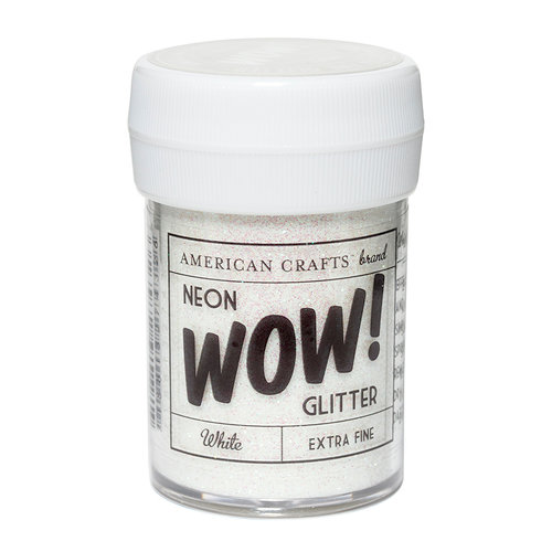 American Crafts - Wow! Neon Glitter - Extra Fine - White